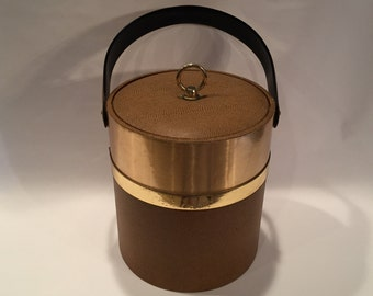 Vintage Londonaire Faux Leather Covered Ice Bucket 1960's/1970's
