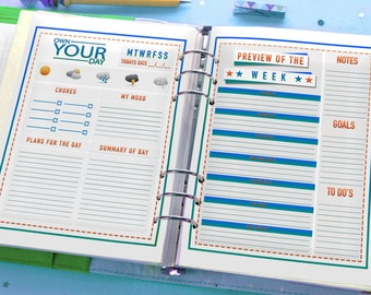 All In One - Kids Planner - Journal Printables (BOYS)