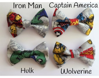 Little Boy Bow Tie - Toddler Bow Tie - Boys Bow Tie - Marvel Comics