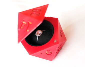 D20 Engagement Ring Box | Engagement Ring Box | Ring Bearer Box | Wedding Ring Box | Proposal