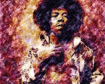 Painting Jimi Hendrix portrait print Jimi Hendrix art print Jimi Hendrix print musician paintings Jimi Hendrix illustration Hendrix art