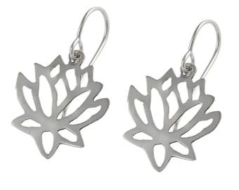 Silver Earrings - Lotus