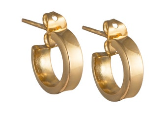 Goldplated Silver Earrings - Small Hoops