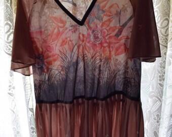 Vintage 70s Bohemian Dress