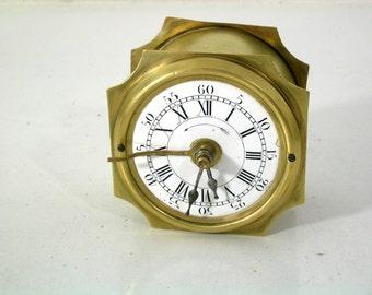 Ancient railwayman clock, ringer, alarm clock with short pendulum to 1880/1900, Top