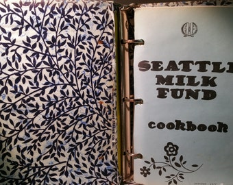 Vintage 1972 Historical Seattle Milk Fund Cookbook