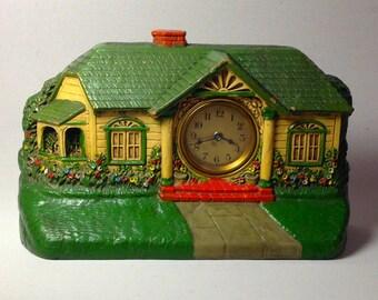 Vintage Bungalow Cottage Mantel Clock