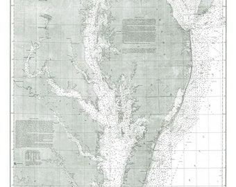 Chesapeake Bay Vintage Map - Chesapeake Bay - Print - Poster