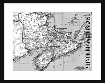Prince Edward Island Map - Print - Poster - Title Map