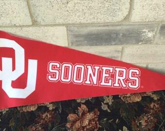 Oklahoma University Sooners Pennant