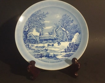 """Currier & Ives """"The Farmer's Home Winter"""" Plate"""