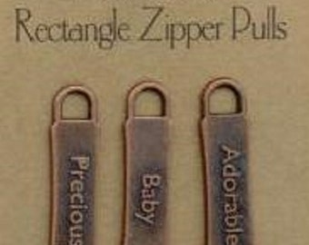 All My Memories - Zipper Pulls - Baby -Bronze - Gun Metal