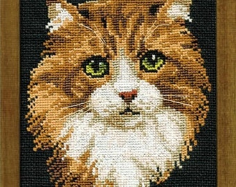 Cross Stitch Kit by Riolis - Little Red Cat