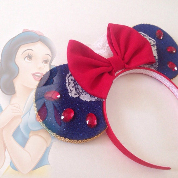 Snow White inspired ears headband