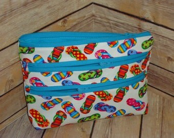 Design Your Own Triple Zipper Pouch ~ Custom Made To Order ~ YOU Choose the Fabric/Theme!