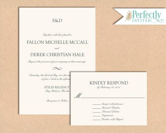Formal Attire On Wedding Invitation: Wedding Invitation Formal Attire Wedding Invitation Modern