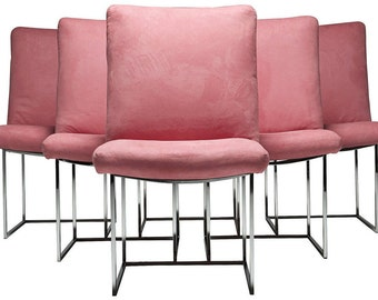 6 Milo Baughman Dining Chairs by Thayer Coggin
