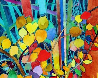 Aspen Leaves 8x10 Giclee