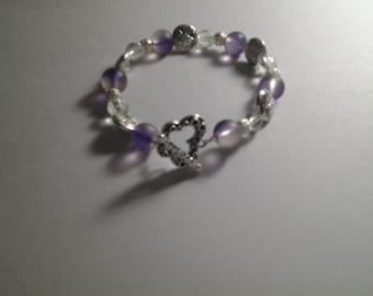 Butterfly Glass Bead Bracelet