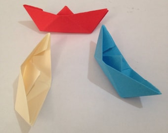 Paper Origami Boat, Wedding Party Table Decor, Birthday Party Decor, Paper Crafts pack of 50