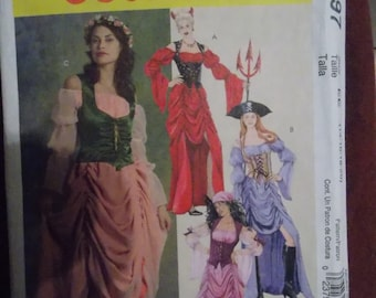 Sewing pattern McCall's 5497 Misses' character costumes dresses new uncut size 14 to 20