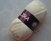 Mercerized cotton yarn LIRA Set of 5 skeins  60% cotton by Vita Cotton Yarn knitting crochet 150m 50g Summer soft yarn / Cotton Acrylic mix