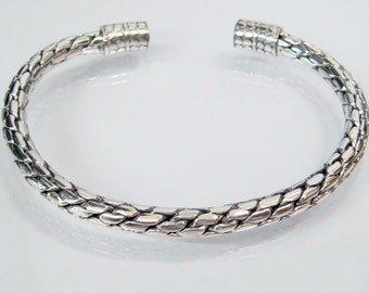 Dragon Scales woven bangle 925 sterling silver