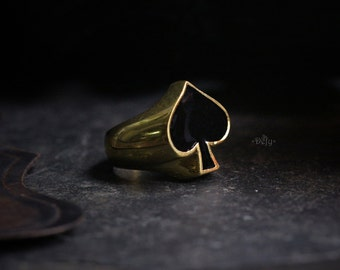 Spades Ring by Defy - Statement Jewelry Accessories