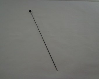 Antique Black Tip Hat Pin