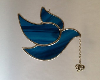Dove Ornament Suncatcher Stained Glass
