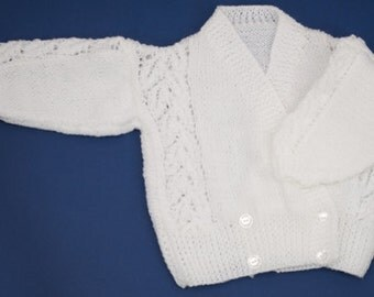 White Double Breasted Cardigan