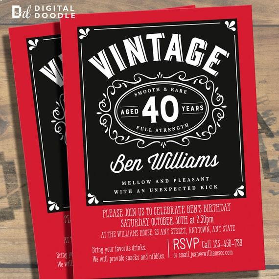 40th Birthday Invitation 40th Birthday Birthday by ...