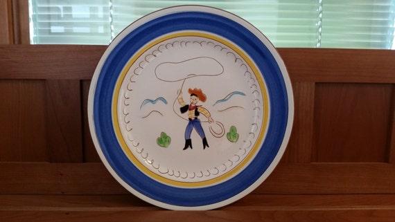 Stangl Kiddieware Ranger Boy 9'' Plate #3918