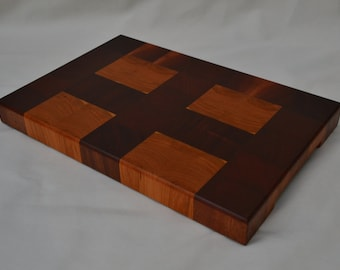 Cross Design End Grain Cutting Board