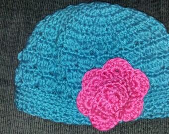 Crochet Baby Hat size 3-6 months