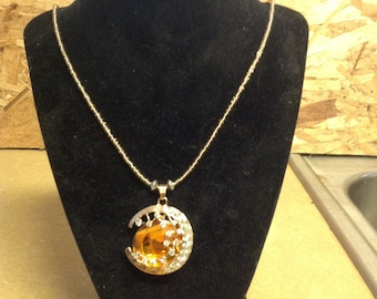 Beaded Glass necklace  pendant