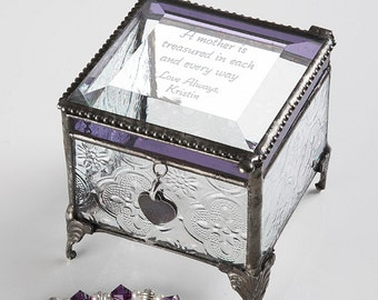Vintage Treasures For Her Personalized Jewelry Box
