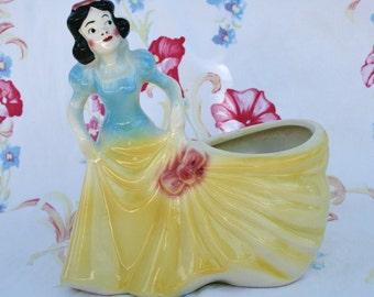 SALE:  Snow White planter; Disneyana; Snow White; Disney