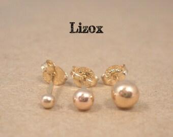 Ball Stud Earrings 14K Gold Filled - Gold Ball Earrings Jewellery - Gold Filled Ball Posts -  Tiny Gold Ball Earrings Jewelry - Ball Studs