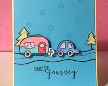Enjoy the journey - A2 size card  blank inside