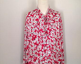 Castleberry Red Floral Shirt - S