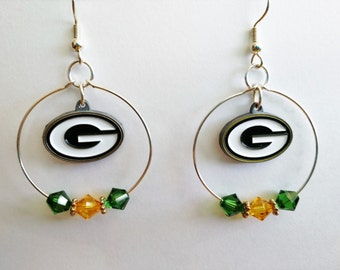 Green Bay Packers Hoop Earrings