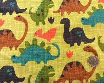 Old Friends Dinosaur Fabric by Michael Miller