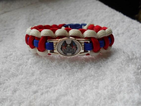 pow eagle paracord bracelet blue white