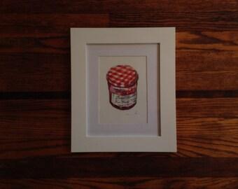 5x7 Original Watercolor - Jam Jar