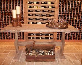 Antique Wine Cellar Table