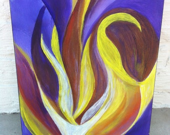 Original Abstract Acrylic Painting/Lily