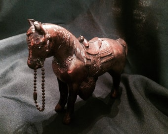 Vintage Pot Metal Horse Figurine, USA