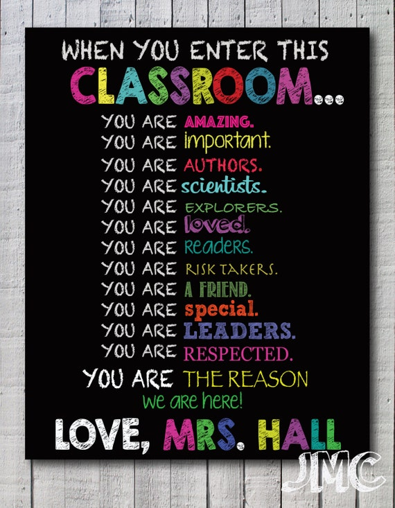 Classroom Decoration Ideas For Teachers Day ~ Classroom decor gift for teacher personalized by