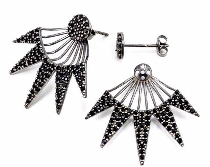 Spike-Earrings- Rhodium